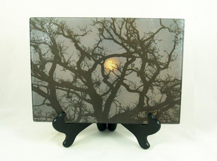 Moon rising white oaks platter