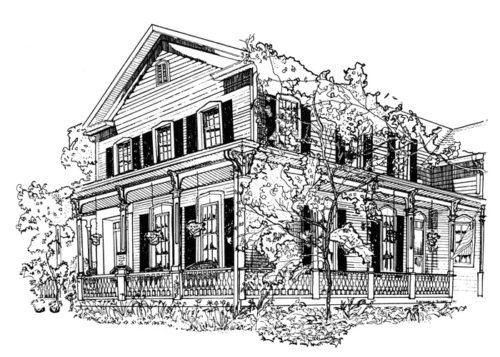 Victorian pen & ink illustration