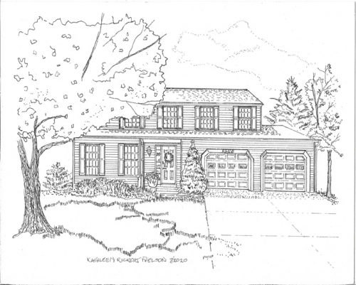 Two-Story-Home-in-Pen-and-Ink-Maryland